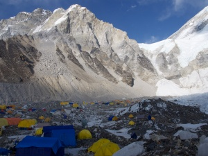 The view of the base camp village on our last night